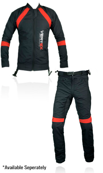 Decription of our Prozip instructor skydive suit. This suit has been specifically desinged for adjusting fall rates of a skydive instructor.